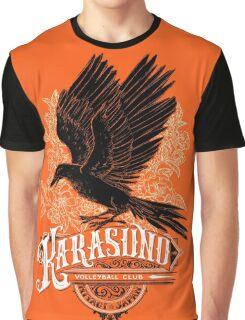 Haikyuu Team Types: Karasuno Orange Graphic T-Shirt