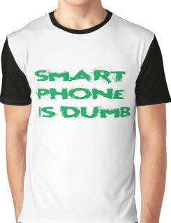 Smart Phone Funny Popular Social Network Text Graphic T-Shirt