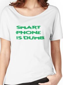Smart Phone Funny Popular Social Network Text Women's Relaxed Fit T-Shirt