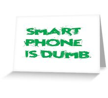 Smart Phone Funny Popular Social Network Text Greeting Card