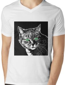 CAT-65 Mens V-Neck T-Shirt