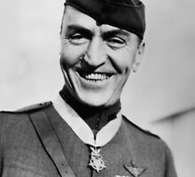 Eddie Rickenbacker Wearing The Medal Of Honor  by warishellstore