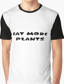 Cool Inspirational Vegatarian Vege Message Graphic T-Shirt