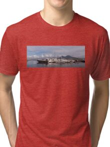 Vesuvius and the Boats Tri-blend T-Shirt