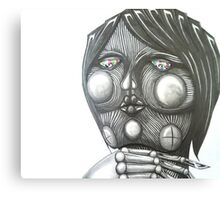 Robot Girl Canvas Print