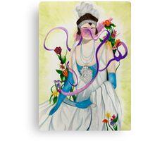 Surreal Flower Flapper Canvas Print
