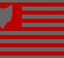 State of Ohio - American Flag  by warishellstore