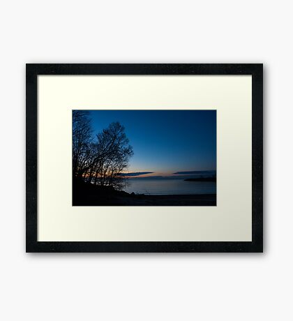 Lake Ontario Blue Hour Framed Print