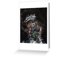 Steampunk Queen Science Fiction Portrait Greeting Card