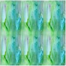 Green and Blue Abstract by Vickie Emms