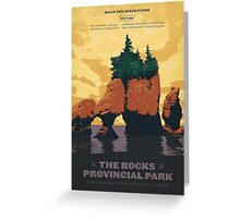 The Rocks Provincial Park Greeting Card