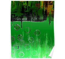 GREEN EMERALD GREEN ABSTRACT Poster