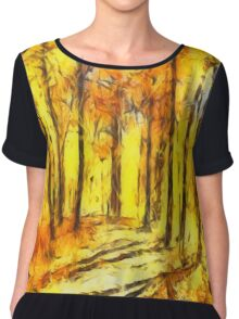 Abstract Fall Chiffon Top