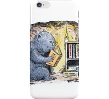 Mr Wombat Reads iPhone Case/Skin