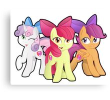 Cutie Bow Crusaders! Yay! Canvas Print