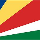 Seychelles Flag Stickers by Mark Podger