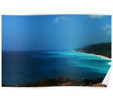 Bright Blue Ocean Poster