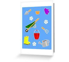 Gardening Pattern Greeting Card