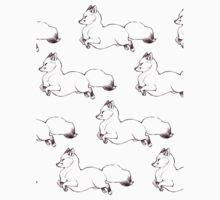 Flouncy Fluffy Foxes One Piece - Short Sleeve