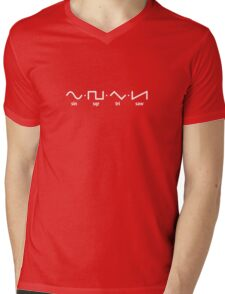 Waveforms (white graphic) Mens V-Neck T-Shirt
