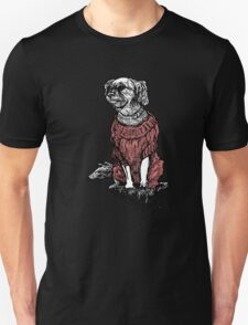 """""""Sassy"""" (Small Dog in her Red Sweater) Unisex T-Shirt"""