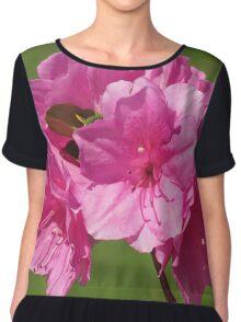 Beautiful Pinkish Flowers  Chiffon Top