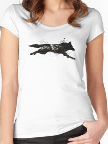 Black Wolf Running Women's Fitted Scoop T-Shirt