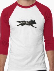 Black Wolf Running Men's Baseball ¾ T-Shirt
