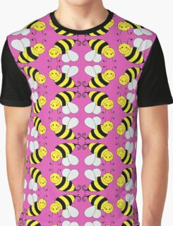 Bumble Bee Pattern  Graphic T-Shirt