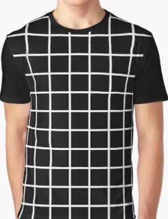 Thick Grid (white) Graphic T-Shirt