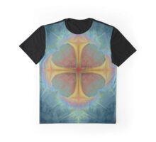 Cross With Crown Of Thorns Graphic T-Shirt