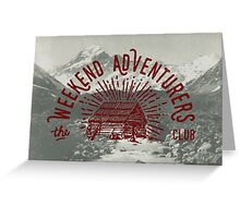 Weekend Adventurers Club Greeting Card