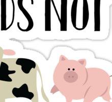 Friends Not Food - Animals Sticker