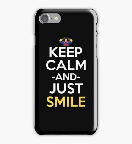 All Might Keep Calm And Just Smile Anime Manga Shirt iPhone Case/Skin