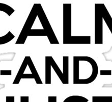 All Might Keep Calm And Just Smile Anime Manga Shirt Sticker
