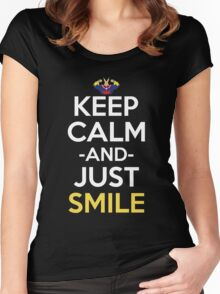 All Might Keep Calm And Just Smile Anime Manga Shirt Women's Fitted Scoop T-Shirt