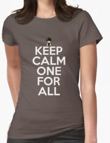 Keep Calm One For All Anime Manga Shirt Womens Fitted T-Shirt