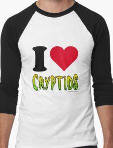 I Love Cryptids Men's Baseball ¾ T-Shirt