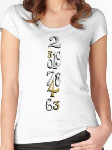 Small World Clock Women's Fitted Scoop T-Shirt