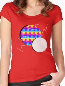Neon Abstract Women's Fitted Scoop T-Shirt