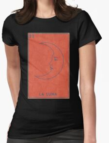La Luna - Tarot Card in Red Womens Fitted T-Shirt