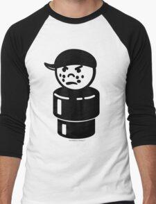 Vintage Little People Bully Tough Kid Men's Baseball ¾ T-Shirt
