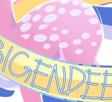 Dear, Gender Deer (Bigender) Sticker