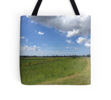 Rural scene with clouds Tote Bag