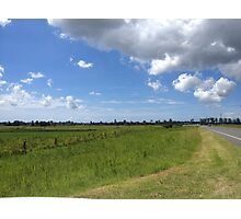Rural scene with clouds Photographic Print