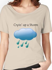Cryin' up a Storm Cloud Women's Relaxed Fit T-Shirt