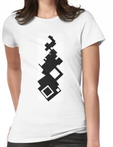 Blocks of Diamonds and Squares Womens Fitted T-Shirt