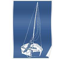 Sailboat (White) Poster
