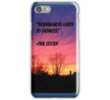 Phil Lester: Normalness Leads to Sadness iPhone Case/Skin