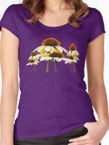 Cone flowers  Women's Fitted Scoop T-Shirt